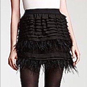 BCBG Maxazaria Feather Skirt